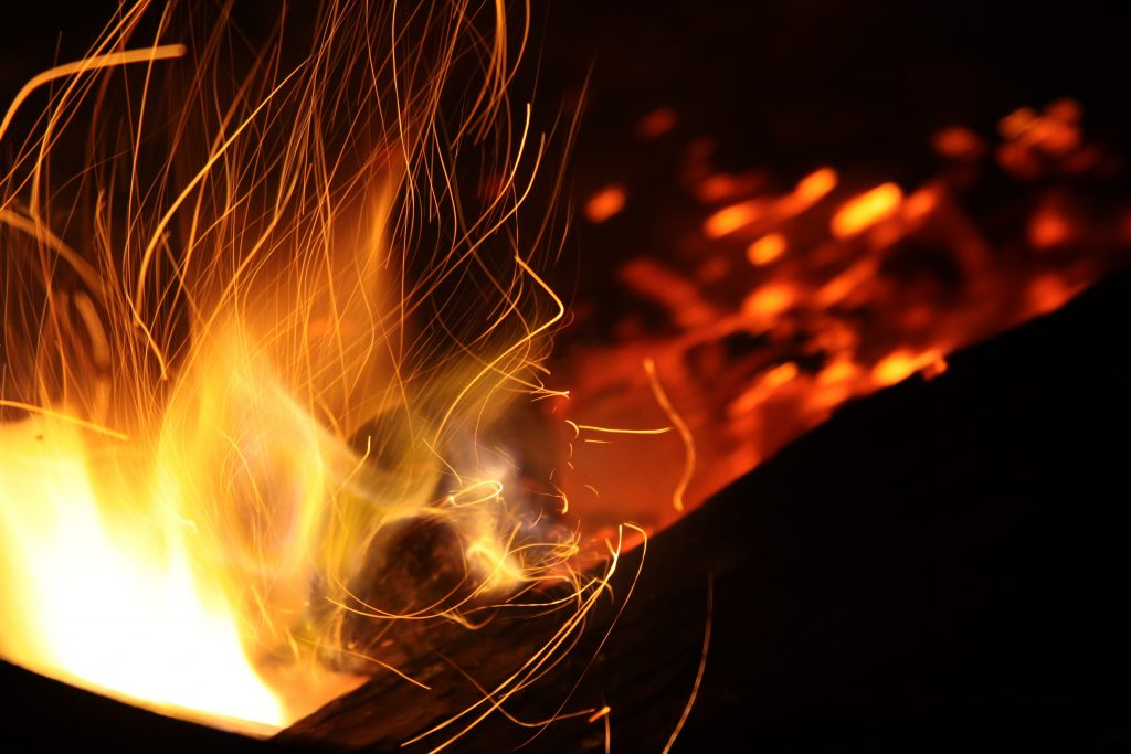 Flames with sparks Pyrotec
